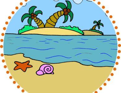 In spiaggia in inglese!